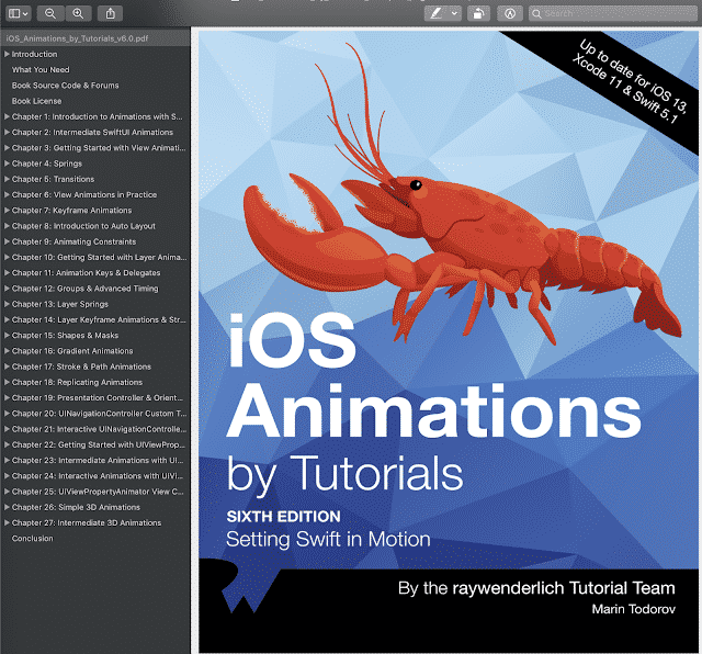 OS Animations By Tutorials Ray Wenderlich