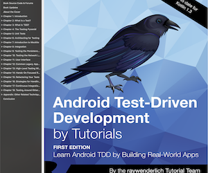 Android Test Driven Development by Tutorials